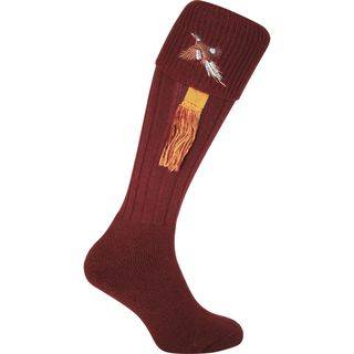 Burgundy Pheasant Shooting Socks